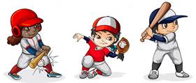 スポーツに熱中する子供たち
